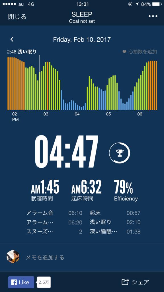 2/10睡眠ログ