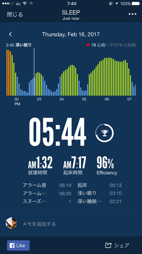 2017/2/16睡眠ログ