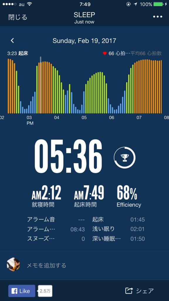 2017/2/19睡眠ログ
