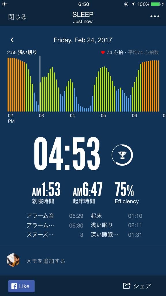 2017/2/24睡眠ログ