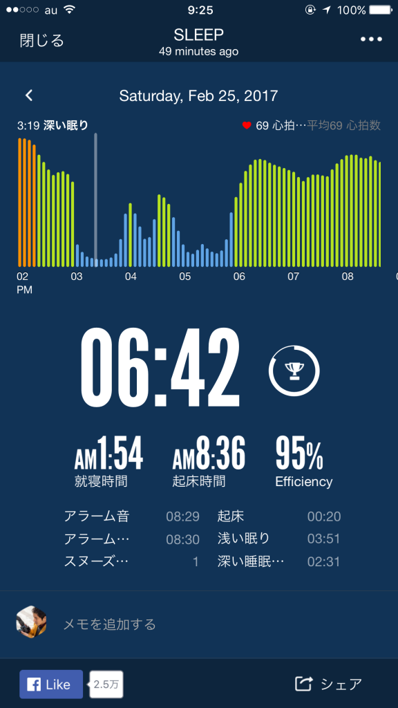 2017/2/25睡眠ログ
