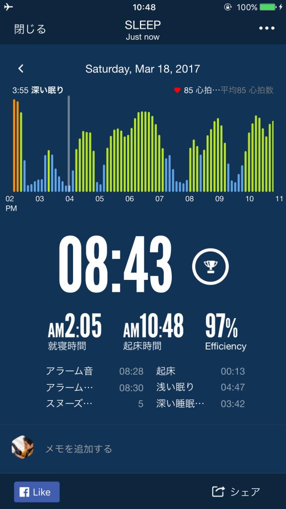 2017/3/19睡眠ログ